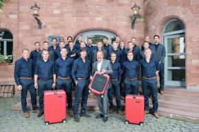 German  Football Team with their personal RIMOWA cases